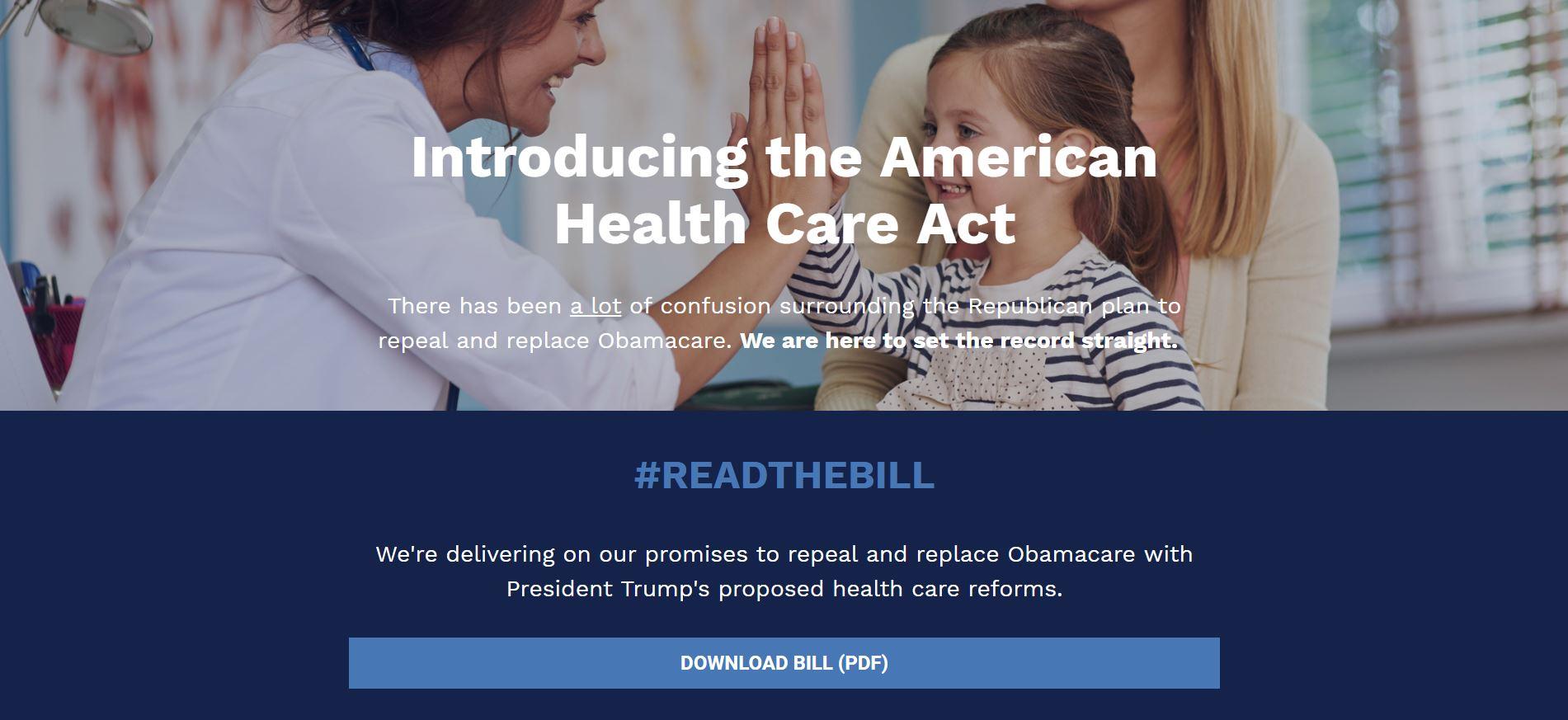 The American Health Care Act Congressman David Schweikert